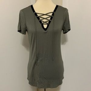 Lace Up Shirt *Never Worn*